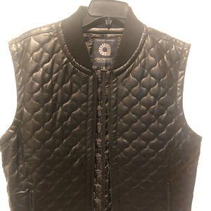 Black leather Academics Vest